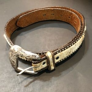 Ranger Belt Company Men's Cowhide Studded Belt 32""